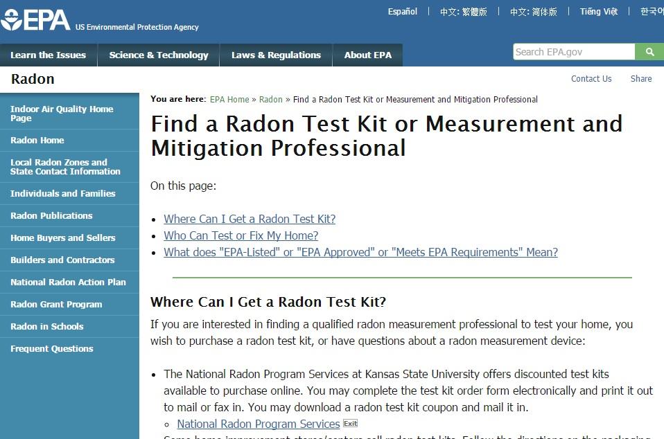Find a Radon Test Kit Preview