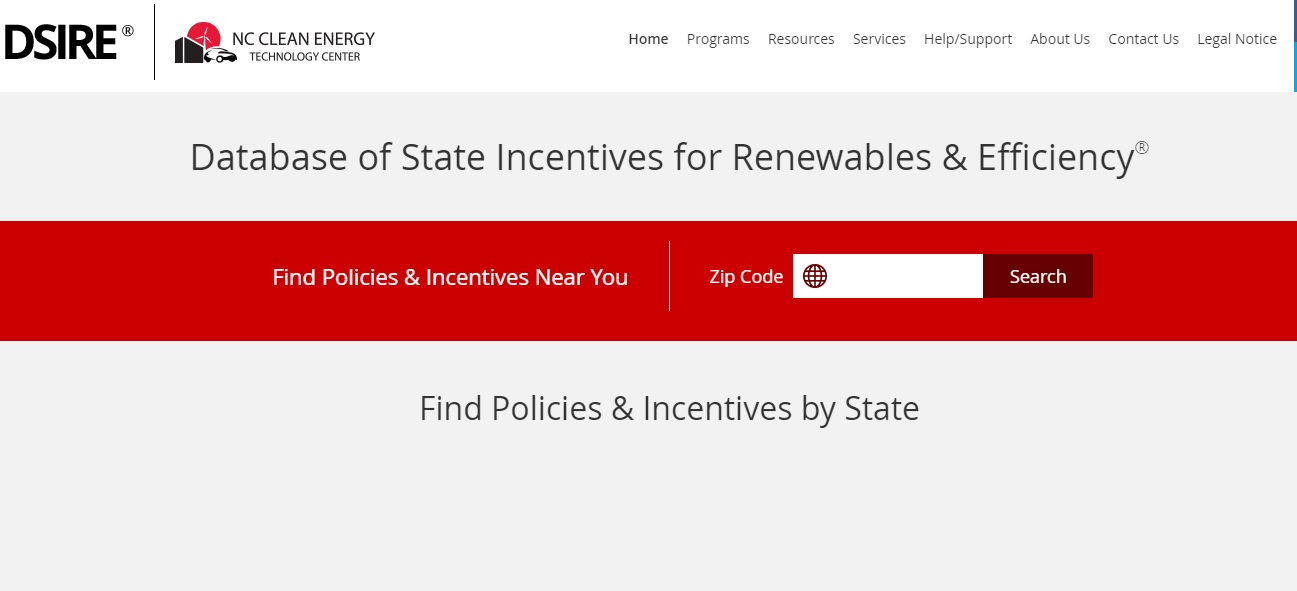 Database of State Incentives for Renewables and Efficiency (DSIRE) Preview