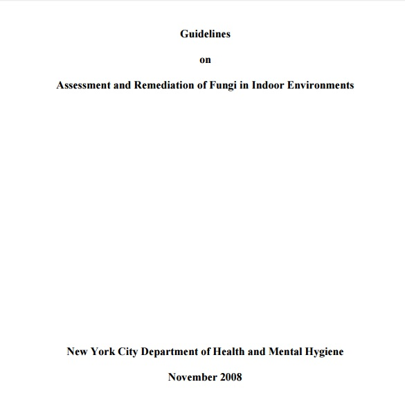 Guidelines on Mold Assessment and Remediation Preview