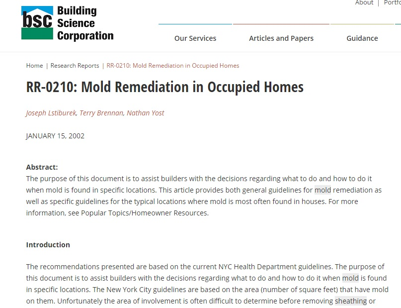 Mold Remediation in Occupied Homes Preview