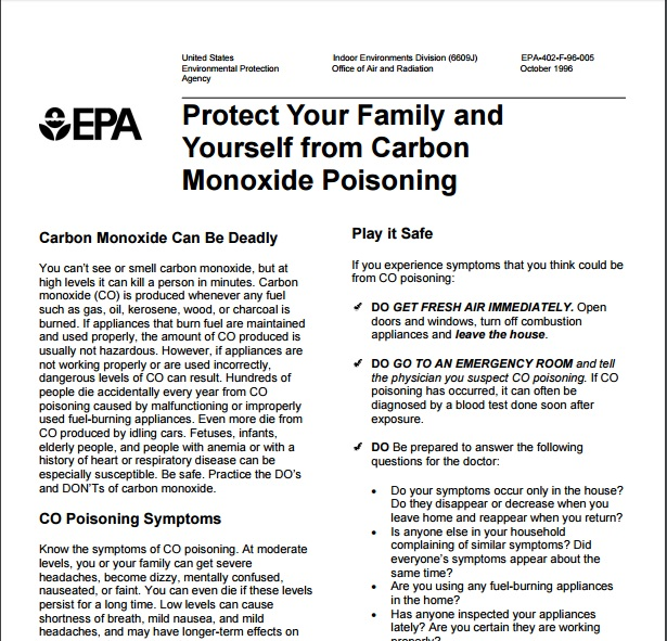 Protect Your Family and Yourself from Carbon Monoxide Poisoning Preview