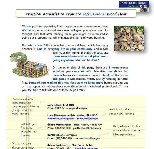 Practical Activities to Promote Safer, Cleaner Wood Heat – For Tribes in WA, ID, OR Preview