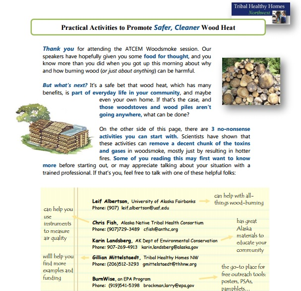 Practical Activities to Promote Safer, Cleaner Wood Heat – for Alaska Native and Tribal Communities Preview