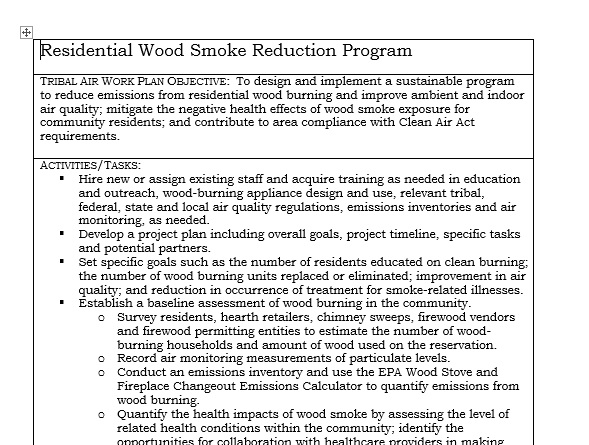 Tribal Residential Woodsmoke Reduction Program Guide Preview