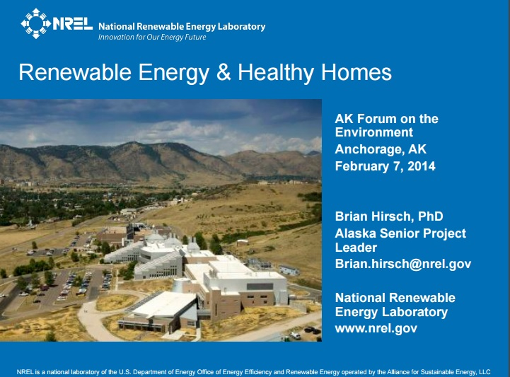 Renewable Energy and Healthy Homes Preview