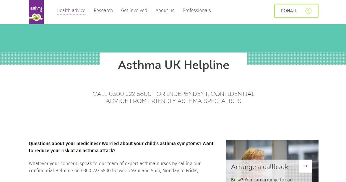 Asthma UK Helpline Preview