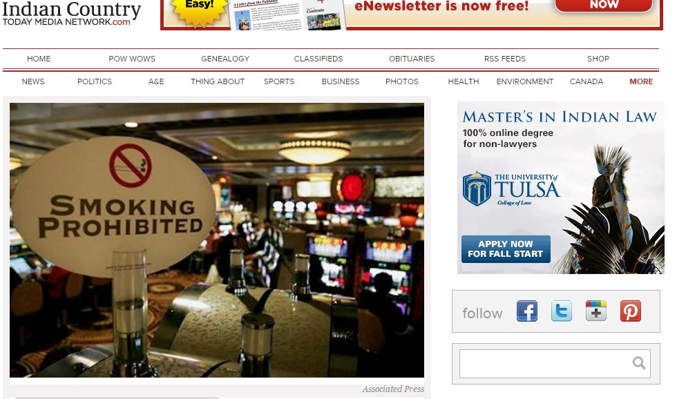 No Smoking! Ho-Chuck Gaming is First Tribal Casino in Wisconsin to be Smoke (and Alcohol) Free Preview