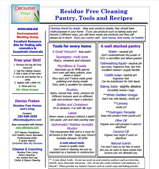 Residue Free – Cleaning Tools and Supplies Preview