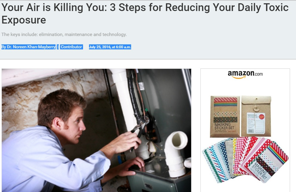 Your Air is Killing You: 3 Steps for Reducing Your Daily Toxic Exposure Preview