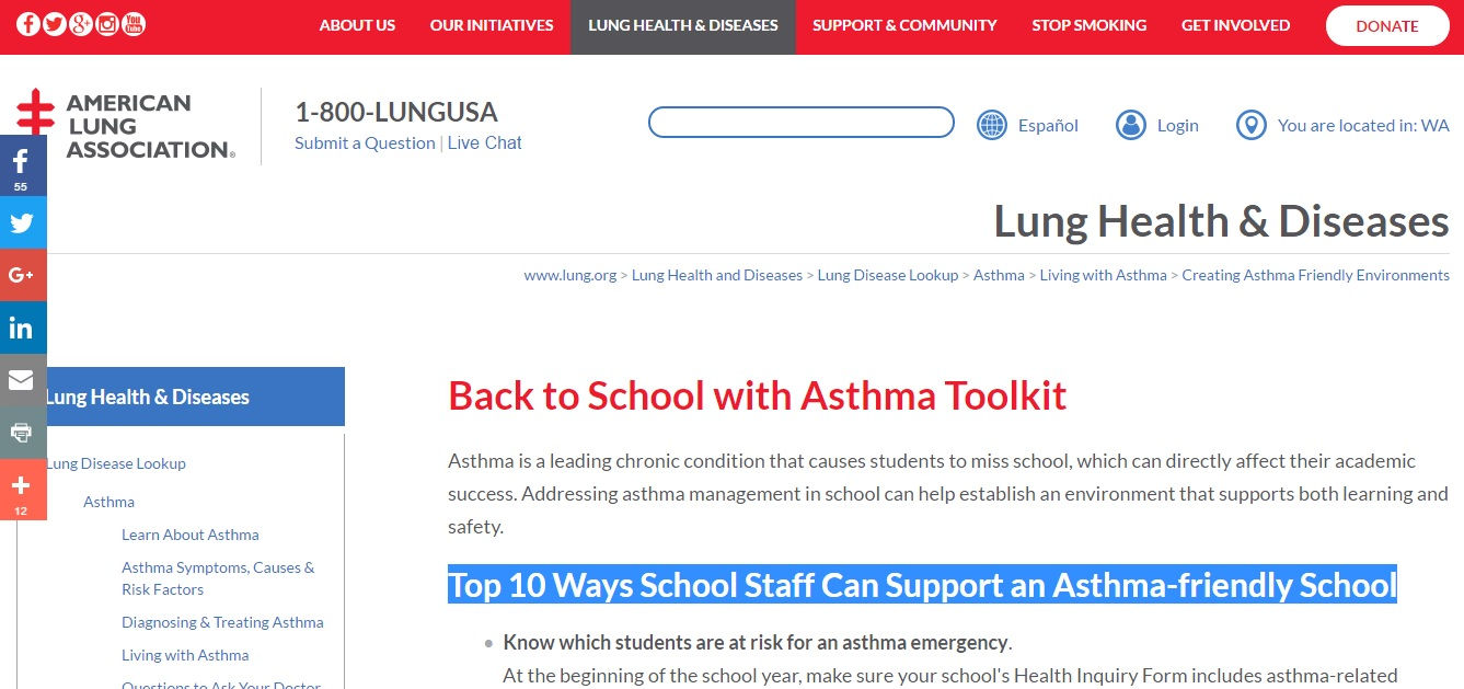 Back to School with Asthma Toolkit Preview