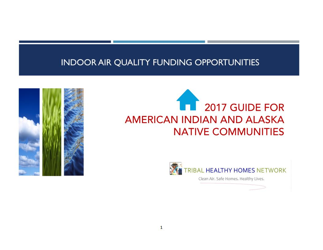 2017 Tribal Guide to IAQ Funding Preview